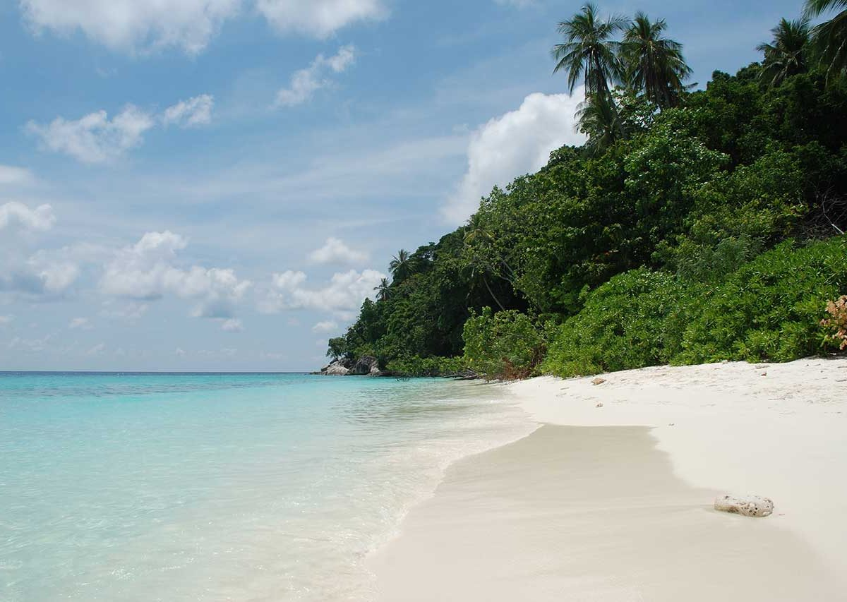 White Sandy Beach on Coral Island